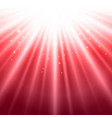 abstract red shining light top magic with vector image vector image