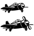 airplane icon on white background design element vector image vector image
