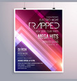 amazing shiny lights music flyer template with vector image vector image