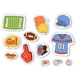 american football player action sport athlete vector image vector image