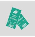 American football tickets icon vector image vector image