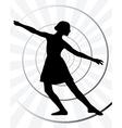 Ballerina motion vector image