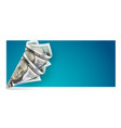 banner with twisted bag vector image vector image