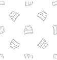 beanie hat pattern seamless vector image