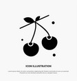 berry cherry food spring solid glyph icon vector image