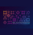 blockchain colorful horizontal vector image vector image