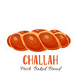 challah bread icon vector image vector image