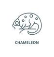 chameleon line icon chameleon outline vector image vector image