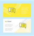 chat bubble abstract corporate business banner vector image