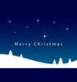 christmas night lansdcape with stars and text vector image