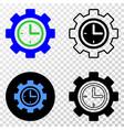 clock setup wheel eps icon with contour vector image