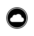 cloud round flat icon vector image