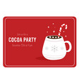 cocoa party invitation template with decorative vector image vector image