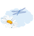 daisy and dragonfly vector image vector image