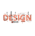 design concept flat line with icons vector image vector image