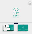 dog cat pet care creative logo template with vector image