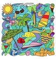 doodle summer beach vector image vector image