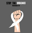 fight hand fist against stop violence woman white vector image vector image