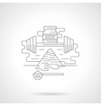 Fitness supplies detailed flat line icon vector image