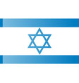 flag of israel rightly proportions and colors vector image