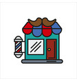 hair salon store line icon vector image vector image
