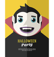 Halloween Party Flyer or Poster Template Flat vector image