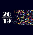 happy new year 2019 party celebration web header vector image