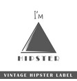 hipster label vector image vector image