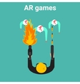 home gaming in augmented reality vector image vector image