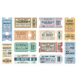 ice hockey sport game tickets admit vector image vector image