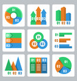 isolated infographics related icons set vector image