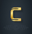 Letter C Template for company logo with monogram vector image vector image