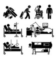 life support equipments stick figure pictograph vector image vector image