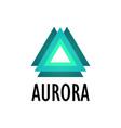 logotype of aurora northern lights vector image vector image