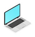 modern thin laptop isometric icon vector image