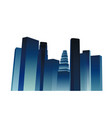 night city dark blue buildings skyscrapers vector image