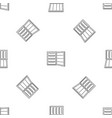 open refrigerator pattern seamless vector image vector image