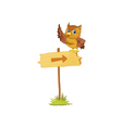 Owl on sign vector image
