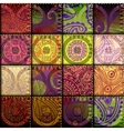 Patchwork of silk vector image vector image