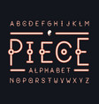 peace regular font alphabet vector image