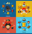 pirate cartoon design concept vector image vector image