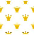 princess crown pattern flat vector image vector image