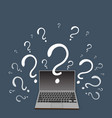question sign with laptop vector image