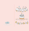 ready for print happy birthday card design with vector image