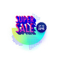 retro design sale badge template vector image vector image
