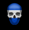 Salvadoran flag skull vector image