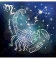 Scorpio zodiac signHoroscope circleSpace dark vector image vector image