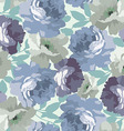 Seamless pattern with blue roses vector image vector image