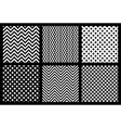 Set of 6 monochrome elegant seamless patterns vector image vector image