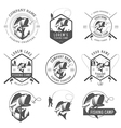 Set of vintage fishing labels and badges vector | Price: 3 Credits (USD $3)